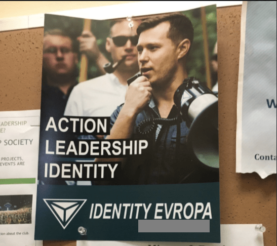Evan Anderson on Identity Evropa poster